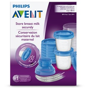 PHILIPS AVENT 61510 STORAGE SYSTEM FOR BREAST MILK 10 PCS