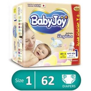 BABY JOY 1 - 60+2 diapers