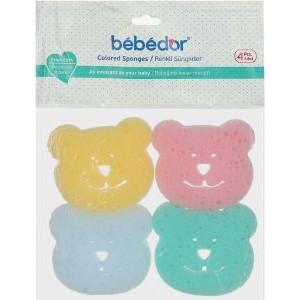 BEBEDOR (578) BABY BATH SPONGE - 4PCS
