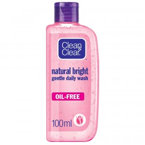 CLEAN & CLEAR NATURAL BRIGHT GENTLE WASH 100ML