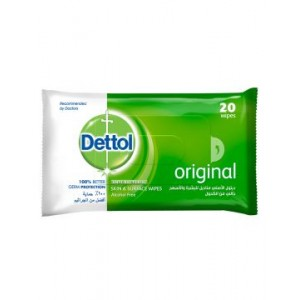 DETTOL WIPES 20 PCS