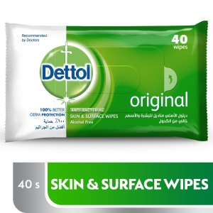 DETTOL WIPES 40 PCS
