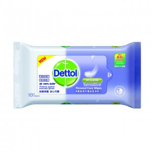 DETTOL WIPES FOR SENSITIVE SKIN 10 PCS
