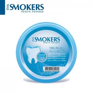 EVA SMOKERS TOOTH POWDER WITH FLUORIDE FLAVOR 40 GM