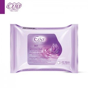 EVA CLEANSING AND MAKE-UP REMOVING FACIAL WIPES WITH GLYCERIN FOR NORMAL/DRY SKIN 25 WIPES