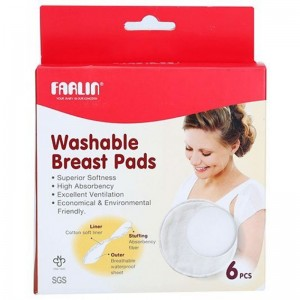 FARLIN 632 WASHABLE BREAST PADS 6 PCS