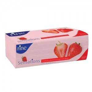 FINE FACIAL TISSUE 250 SHEETS - STRAWBERRY