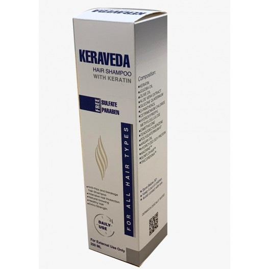 KERAVEDA HAIR SHAMPOO WITH KERATIN 250ML