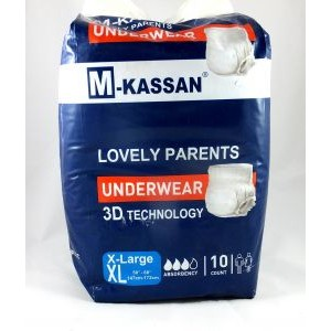 KASSAN ADULT DIAPERS 9 PANTS - XL