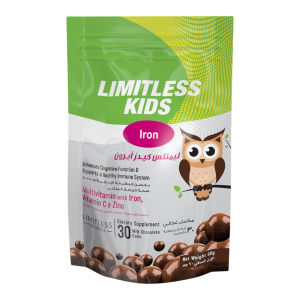 LIMITLESS KIDS IRON CHEWABLE CHOCOLATE 30 TAB