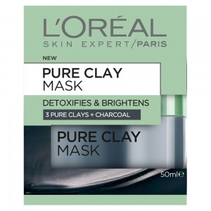 LOREAL CLAY MASK-FRESHNESS OF CHARCOAL- 50 ML