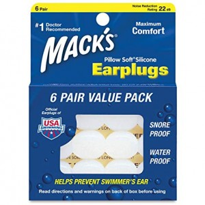 MACK'S PILLOW SOFT SILICONE ADULT EAR PLUGS 6 PAIR
