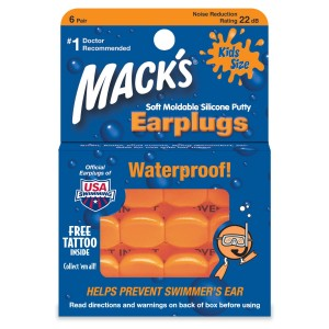 MACK'S PILLOW SOFT SILICONE KIDS EAR PLUGS 6 PAIR