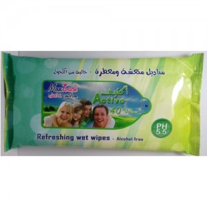 MAX TOUCH REFRESHING WIPES 40 PCS