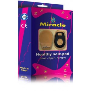 MIRACLE SILICONE HEEL CUP - S