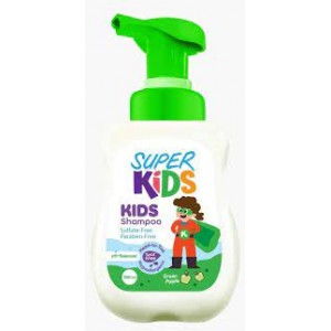 SUPER KIDS SHAMPOO SULFATE FREE GREEN APPLE 300ML