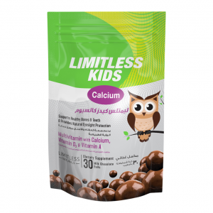 LIMITLESS KIDS CALCIUM CHEWABLE CHOCOLATE 30 TAB