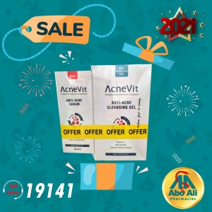 ACNEVIT ANTI ACNE SERUM 30 ML + ACNEVT GEL 200ML