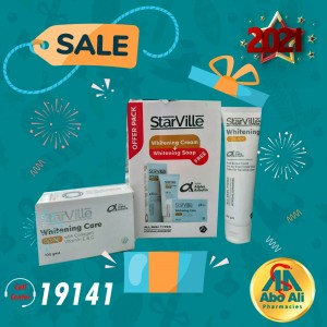 STARVILLE WHITENING CREAM 60GM + SOAP FREE