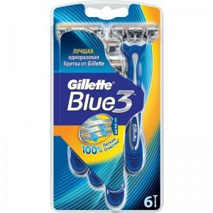 GILLETTE BLUE 3 PLUS - 6 PCS -10 % OFFER